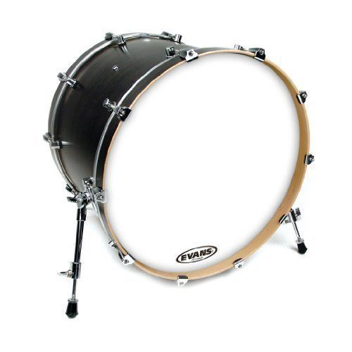 Evans 18-Inch No Port EQ3 Resonant Smooth White Bass Drum Head - BD18RSW-NP