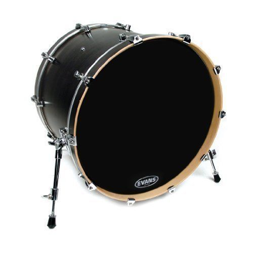 Evans BD18RB-NP 18-Inch No Port EQ3 Resonant Black Bass Drum Head - BD18RB-NP