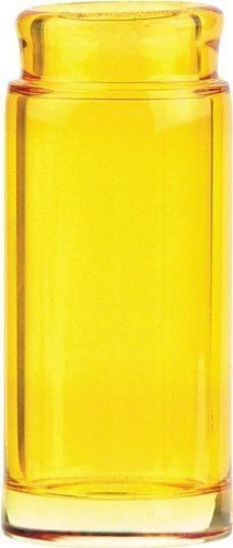 Jim Dunlop 278 Blues Bottle Glass Guitar Slide in Yellow - Large - New