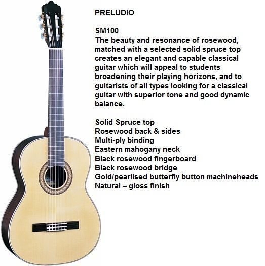 Santos Martinez classical guitar SM100 PRELUDIO full size body - New