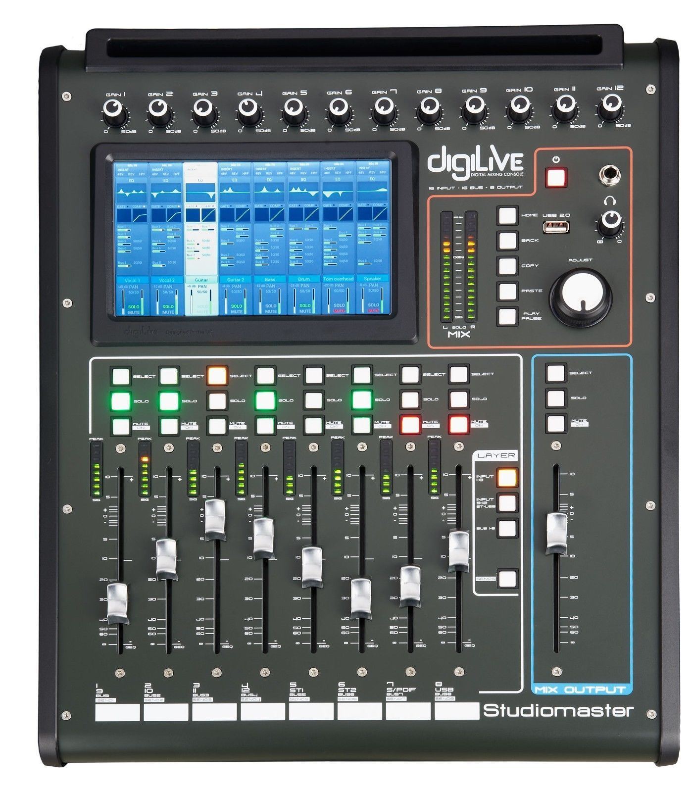 studiomaster digilive16 16 input 16 bus 8 output hybrid digital mixer new. Black Bedroom Furniture Sets. Home Design Ideas